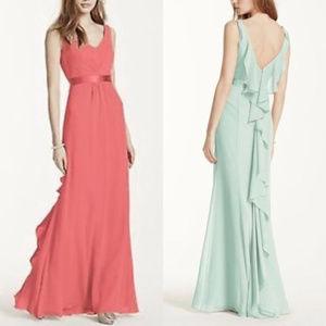 David's Bridal Green Dress. NWT. 8